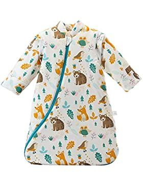 Baby Winter schlafsack Kinder schlafsack 3.5 Tog Schlafsaecke aus Bio Baumwolle Verschiedene Groessen von Geburt...