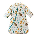 Baby Winter schlafsack Kinder schlafsack 3.5 Tog Schlafsaecke aus Bio Baumwolle Verschiedene Groessen von Geburt bis 4 Jahre alt (M/6-18 Monate, Tierwelt)