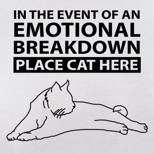 Emotional Breadown Place Cat Here - Herren T-Shirt - 13 Farben Weiß