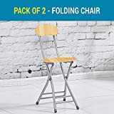 TIED RIBBONS Folding Chair For Kids Home School Study Folding Chairs For Boys & Girls Unisex (Weathered Saddle, Set Of 2)