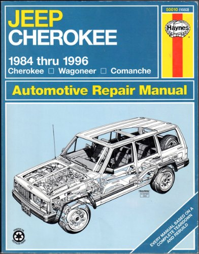 Jeep Cherokee 1984 Thru 1996 Cherokee Wagoneer Comanche (Haynes Auto Repair Manuals Series) (2000 Cherokee Haynes Jeep)