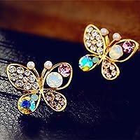 SSEHXL earring Beautiful Crystal Earrings Imitation Pearl Stud Earrings For Women Rhinestone Earrings