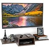 Onlineshoppee TV Entertainment Unit/Wall Set Top Box Stand Shelf (Standard Wenge)