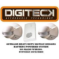 x2 F2-wireless Heavy Duty Sensor de movimiento entrada sistema de alarma de alerta de