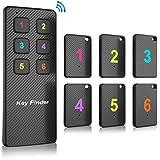 Key Finder, Makeasy Wireless con 6 ricevitori RF Item Locator, Articolo Tracker Support Remote Control, Pet Tracker, Portafoglio Tracker Localizzatore Anti-Lost