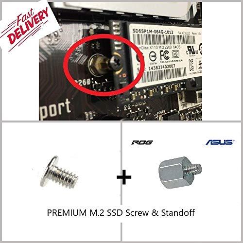 OMZ M.2 NVMe SSD STAND OFF distanziatore e vite per schede madri - Asus Acer Dell HP MSI Toshiba Adata Crucial Samsung