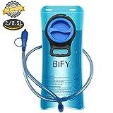 BIFY Wasserbeutel Trinkblase 2.5L Trinken Das Tragbare TPU Rucksack Hydration Camping Mund Trinken Wasserblasenbeutel Blau