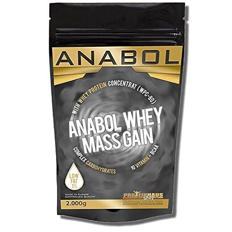 ANABOL WHEY MASS GAIN Vanille 2KG/ 2000g für HARDGAINER Muskelaufbau