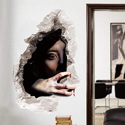 Halloween Ghost Dekoration Aufkleber Halloween Festival Horrible Sadako Wasserdichte Tapete Dekoration 45 * 60 cm