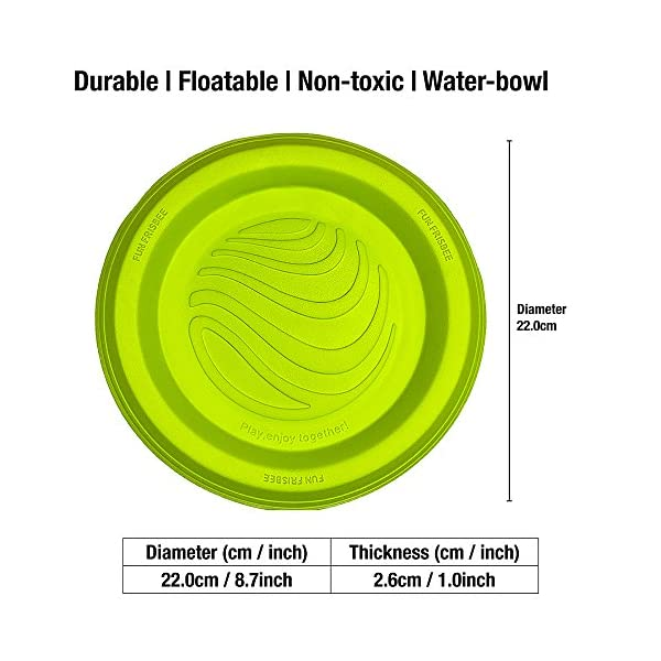 LaRoo Dog Flying Disc Dog Frisbee ABS Material Floatable Dog Toys Pet Frisbee for Puppies, Small, Medium and Large Dogs 4