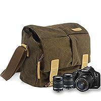 """BESTEK® #1: Le sac bandoulière pour appareil photo reflex 7 """" x4 """" x9 """" Nouveau est personnalisé pour les caméra reflex numérique DSLR et ses accessoires, donnant une couche supplémentaire d'ouverture d'une fermeture à glissière pour le téléphone por..."""