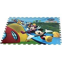ColorBaby - Alfombra puzzle goma Eva de Mickey Mouse Clubhouse, 9 piezas, 93 x 93 cm (48052)