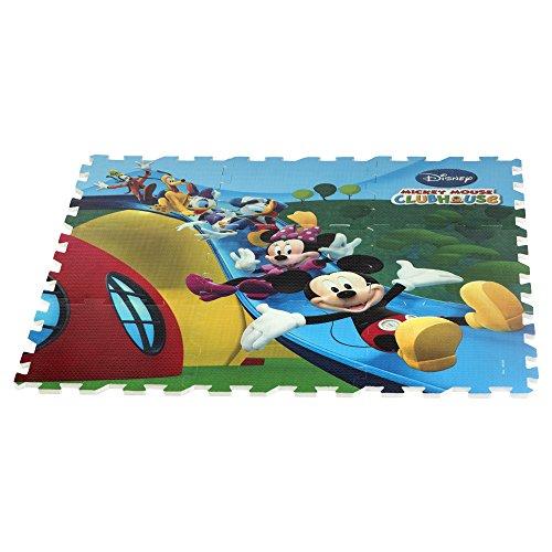 ColorBaby - Alfombra puzzle goma eva club mickey mouse, 9 piezas, 93 x 93 cm (48052)