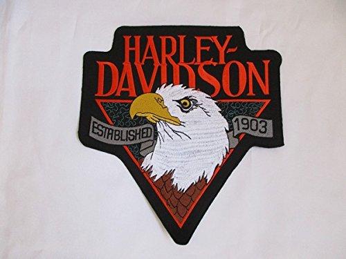 Artículo Se al día siguiente Envío. aufbügler Harley Davidson se también para coser aprox. 24,5x 22,5cm