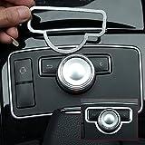 Auto Mittelkonsole Multimedia Button Abdeckung Trim Innenraum aus Aluminium Legierung Zubehör für E-Klasse W2122011–2013X204GLK 2008–2015W204C-Klasse 2008–2013Auto Styling