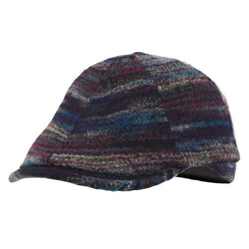 Kenmont Pur coton Ivy chapeau hiver / automne visière chapeau gavroche bonnet de dame blue