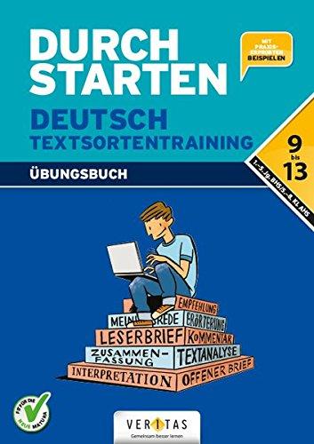 Durchstarten - Deutsch - Neubearbeitung: 9.-13. Schuljahr - Textsortentraining
