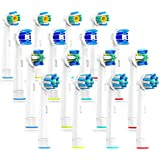 caretist 4 * 4 Multipack brossettes de rechange pour brosses à dents electrique Oral B, 3dwhite, Precision Clean...