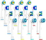 CARETIST 4*4 Multi Pack Aufsteckbürsten für Oral B Elektrische Zahnbürsten, 3DWhite, Precision Clean, Tiefenreinigung, CrossAction, 16 Stück, Voll kompatibel mit Braun Oralb Vitality, Pro Health, TriZone, Advance Power, Genius 8900, 9000, Professional Care, Triumph und Deep Sweep