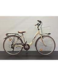 Bicicleta Mujer City Bike Atala Village Nuova con marco de acceso funcional, ruedas 26, cambio Shimano, portacesto, cesta, cubrecadenas, luces Già Montada al 95%