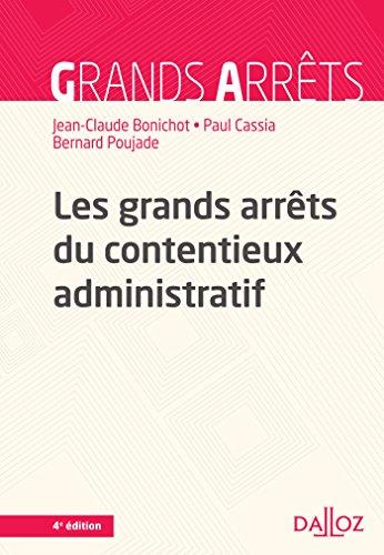 Les grands arrts du contentieux administratif - 4e d.