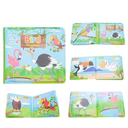 Säuglinge Ungiftig Bad Buch Baby Bad Zeit Intelligenz Entwicklungs Wasserdichte Spielwaren mit Ententeich Vögel Nummer und Buchstaben(Vögel)