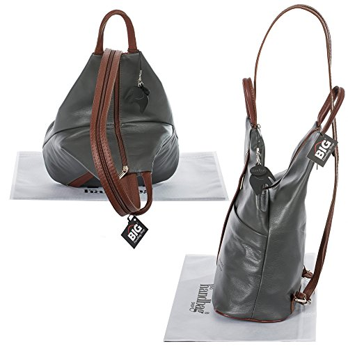 Big Handbag Shop, Borsa a zainetto donna Orange (Brown Trim)
