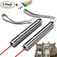 FYNIGO Cat Toys,Interactive Light Toys for Cats and Dogs,2 in 1 Function Red Light/LED Flashlight,Pet Chaser Toys for Exercise(2 pack)