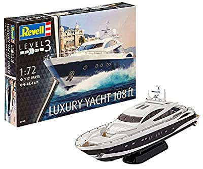 Revell - 05145 - Maquette - Luxury Yacht 108 ft - Echelle 1/72