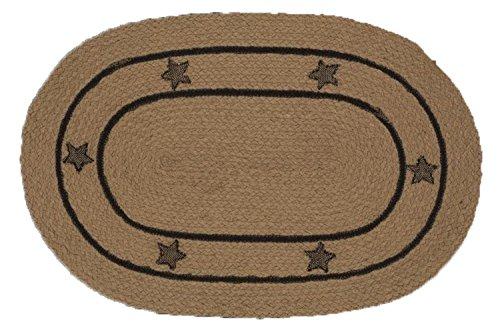 Star Jute Geflochten Oval Bereich Teppich Accent Teppiche Jute IHF Modern 27