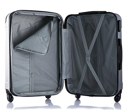 WOLTU RK4205ts Reise Koffer Trolley Hartschale mit erweiterbare Volumen , Reisekoffer Hartschalenkoffer 4 Rollen , M / L / XL / Set , leicht und günstig , Türkis (M, 56 cm & 42 Liter) - 5