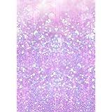 Digital fotografía telón de fondo morado rosa brillante halo lunares Party, diseño de chicas fondo Bling cumpleaños Photo Booth fotografía Prop 5× 7ft