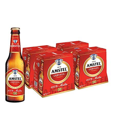 Amstel Beer - 4 Packs of 6 Bottles x 250 ml - Total: 6 L