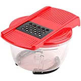 Vegetable Choppers Slicers Cutter Dicer Grater Multifunctional Vegetable Fast Crusher With 6 Detachable Blades
