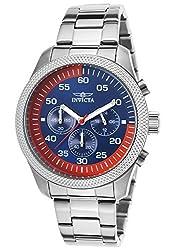 Invicta Mens 19381 Specialty Analog Display Quartz Silver Watch
