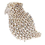Bonjanvye Crystal Parrot Clutch Purses for Women Evening Bag Gold