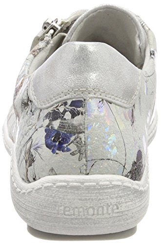 Remonte Damen R1402 Sneaker Mehrfarbig (Ice/Offwhite-Metallic)
