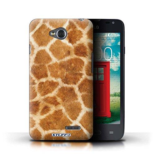 Kobalt® Imprimé Etui / Coque pour LG L65/D280 / Tigre conception / Série Motif Fourrure Animale Girafe
