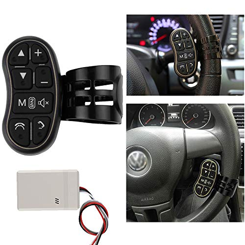 OurLeeme Auto DVD GPS Player Lenkrad Fernbedienung Schlüsselknopf für DVD Player GPS Navigationssystem