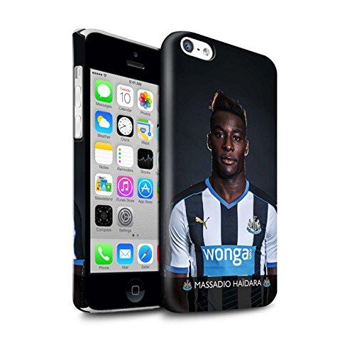 Offiziell Newcastle United FC Hülle / Glanz Snap-On Case für Apple iPhone 5C / Pack 25pcs Muster / NUFC Fussballspieler 15/16 Kollektion Haïdara
