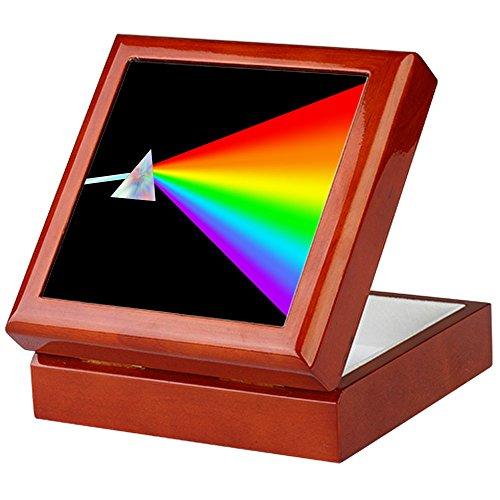 CafePress-Rainbow Prism-Keepsake Box, fertig Hartholz Jewelry Box, Samt Gefüttert Memento Box mahagoni -