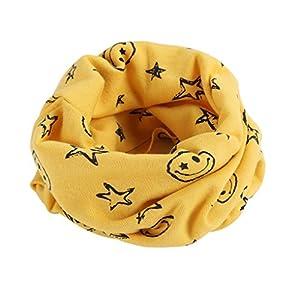 BlueSterCool Otoño invierno bebé pañuelos Niños Niñas collar del bebé bufanda de algodón Cuello redondo Bufandas 7