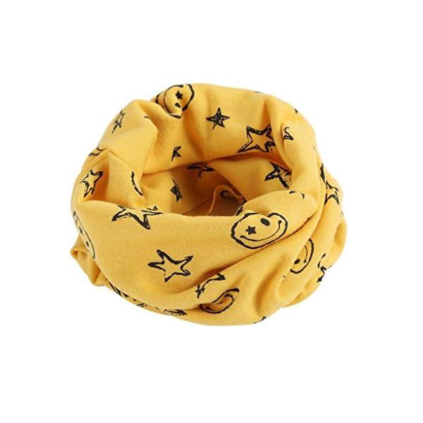 BlueSterCool Otoño invierno bebé pañuelos Niños Niñas collar del bebé bufanda de algodón Cuello redondo Bufandas 1