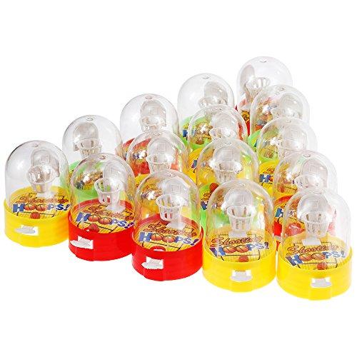 Goldge 15 PCS mini basketball, Flipper Basketball,Mini Finger Schießspielzeug,Desktop-Kinderspielzeug,Kleines Spielzeug Korbwurf,Mitgebsel (Desktop-basketball-spiel)