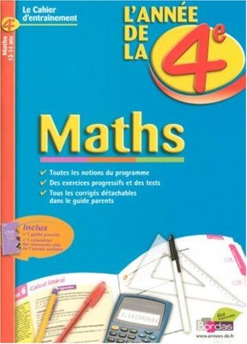 Maths : L'année de la 4e