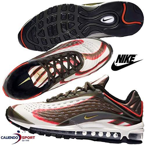 d90e0ab103 Nike Air Max Deluxe, Sneakers Basses Homme, Multicolore (Sequoia/Camper  Green/