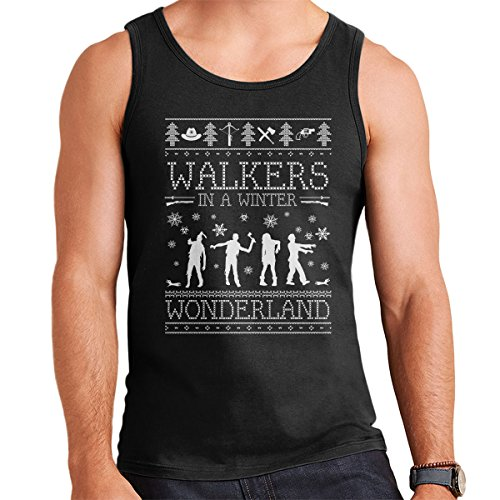 Walkers In A Winter Wonderland Christmas Knit Men's Vest Black