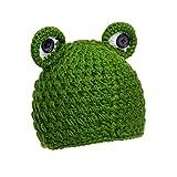 Gorro de bebé diseño rana | Gorro para bebé, niños 100% lana | Gorro para bebés unisex | Gorrito sombrero para bebé | Gorro de invierno para niños (rana)