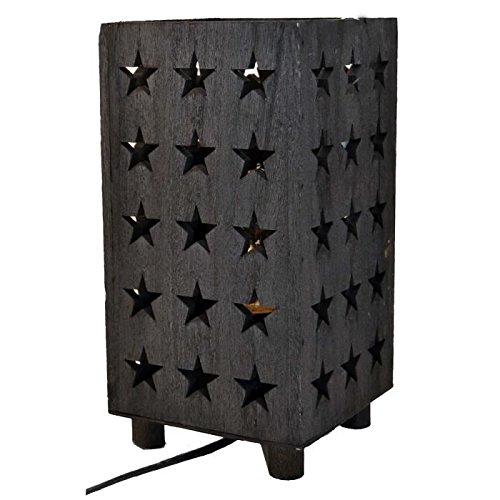 Preisvergleich Produktbild Tischleuchte Estrella Stern Holz 14cm schwarz