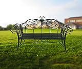 HLC 133*49*90 CM Metall Bank Gartenbank Ruhebank doppelte Sitz mit Rücken aus Eisen